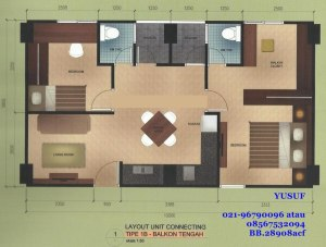 lay out connect 33+33 balkon tengah