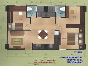 lay out connect 33+33 balkon tengah